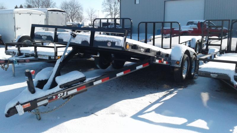 2020 83x20 TA Hydraulic Quick Tilt PJ Trailers TH202 Equipment Trailer - Treated Wood Floor - Winch Plate (GVW:  9899)
