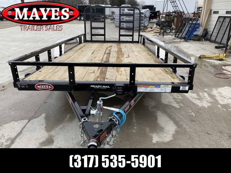 2020 83x16 (14+2) TA PJ Trailers UL162 Utility Trailer - Dovetail - HD Fold Up Gate (No Ramp Legs) (GVW:  7000)