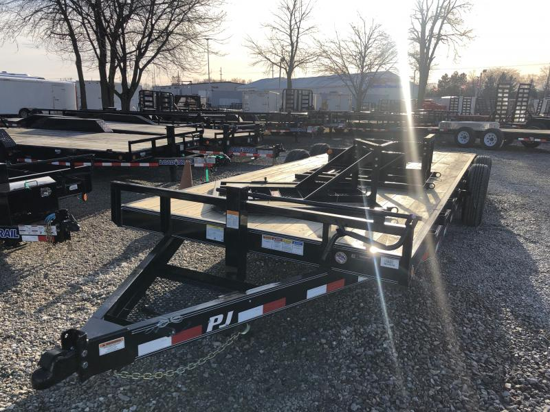 2019 83x22 (20+2) TA PJ Trailers CC222 Trailer - Split HD Gate - Dovetail (GVW:  14000)