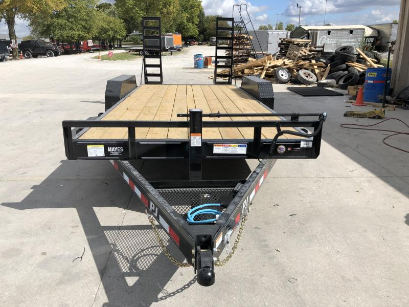 2020 83x18 (16+2) TA PJ Trailers CC182 Equipment Trailer - 6 Inch Channel - Dovetail - Fold Up Ramps (GVW:  14000)