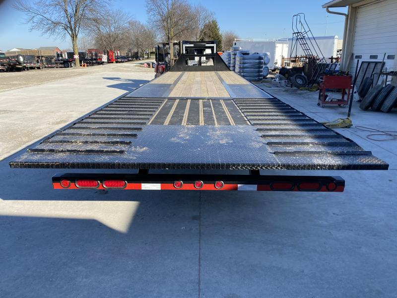 2020 102x32 (22+10) TA Gooseneck Load Trail GL0232102 Equipment Trailer - 10 Foot Hydraulic Dovetail - Max Steps - Front Tool Box - Winch Plate (GVW:  24000)