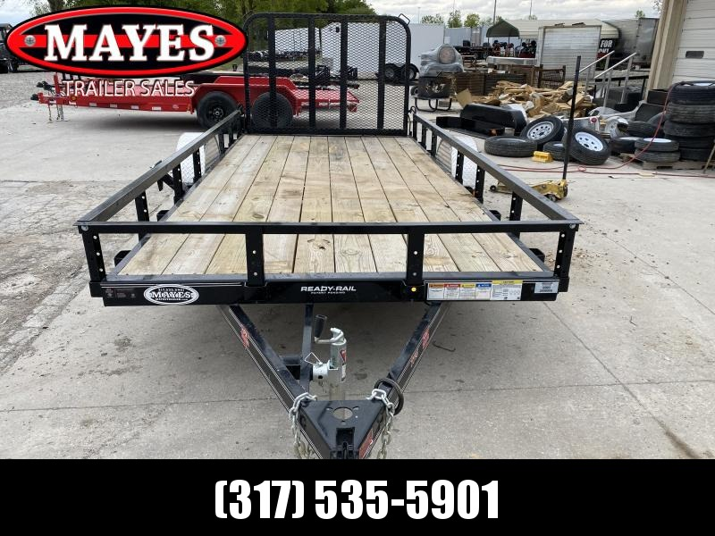 2020 PJ Trailers U7141 Utility Trailer 77x14 SAUT - Straight Deck - Fold In Gate - Spare Tire MOUNT ONLY (GVW:  2995)