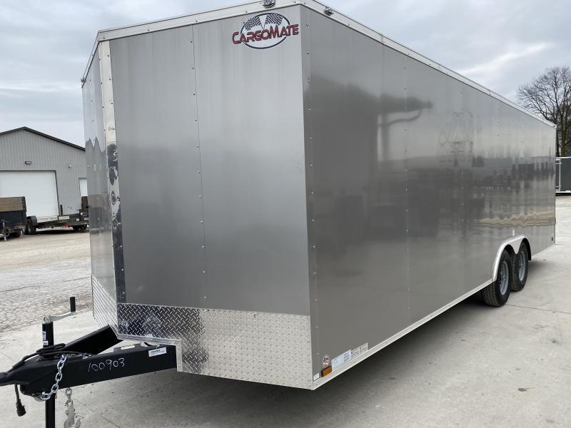 2020 8.5x24 TA Cargo Mate EHW8.524TA3 Enclosed Cargo Trailer - Ramp Door - Additional Floor Crossmembers - D-Rigns (GVW:  9800)