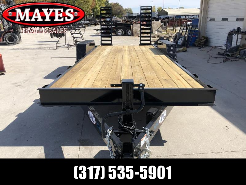 2020 82x20 (18+2) TA AMO UG202 Equipment Trailer - Treated Wood Floor - LED Lights - Dovetail - Flip Up Ramps (GVW:  14000)