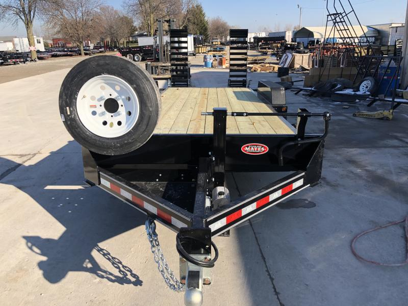 2020 83x20 (18+2) B-B CBCT2016E-S Equipment Trailer - 10 Inch Channel - Self Adj. Brakes - 10K HD Jack - 5 Foot Flip Up Ramps (GVW:  14000)