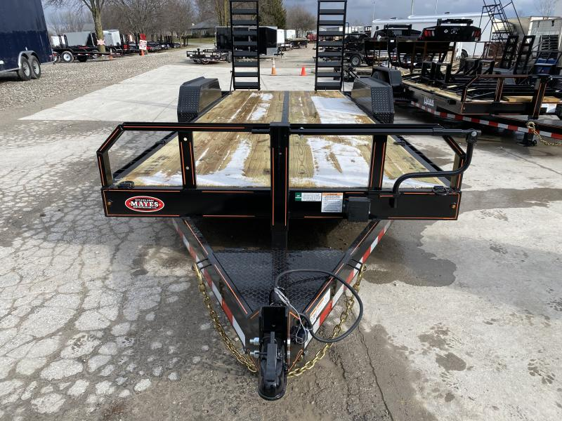 2020 20 Foot (17+3) TA Hank HM-P7K20SKID Equipment Trailer - 7 Inch Channel Main Frame - HD Spring Assist Stand Up Ramps - Drop Axle - COMMERCIAL MODEL (GVW:  14000)