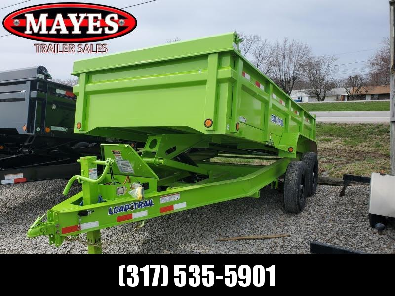 "2020 83x14 TA Load Trail DT8314072 Dump Trailer - 24 Inch Sides - 3 Way Gate - 7 Gauge Floor - Upgraded Scissor Hoist - Double 3"" Channel Rear Slide In Ramps - Scissor Hoist - Spare Tire MOUNT ONLY (GVW:  14000)"