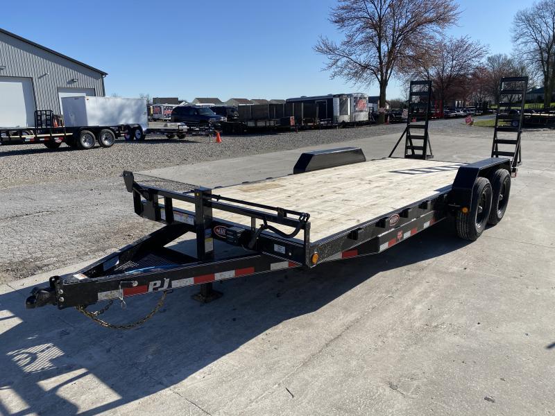 2020 83x20(18+2) PJ Trailers 6 in. Channel Equipment (CC) Trailer - w/ 5' Fold-up Ramps (GVW: 14000)