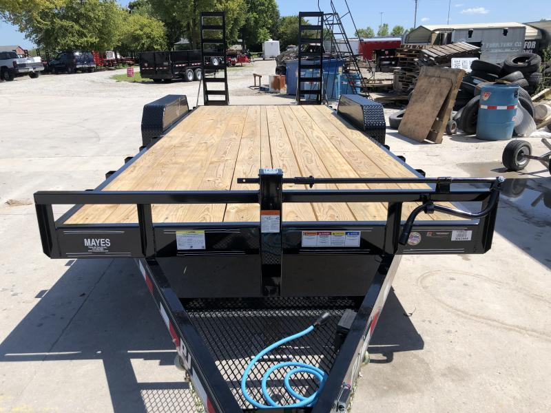 2020 83x20 (18+2) TA PJ Trailers CC202 Equipment Trailer - 6 Inch Channel - 5 Foot Fold Up Ramps (GVW:  14000)