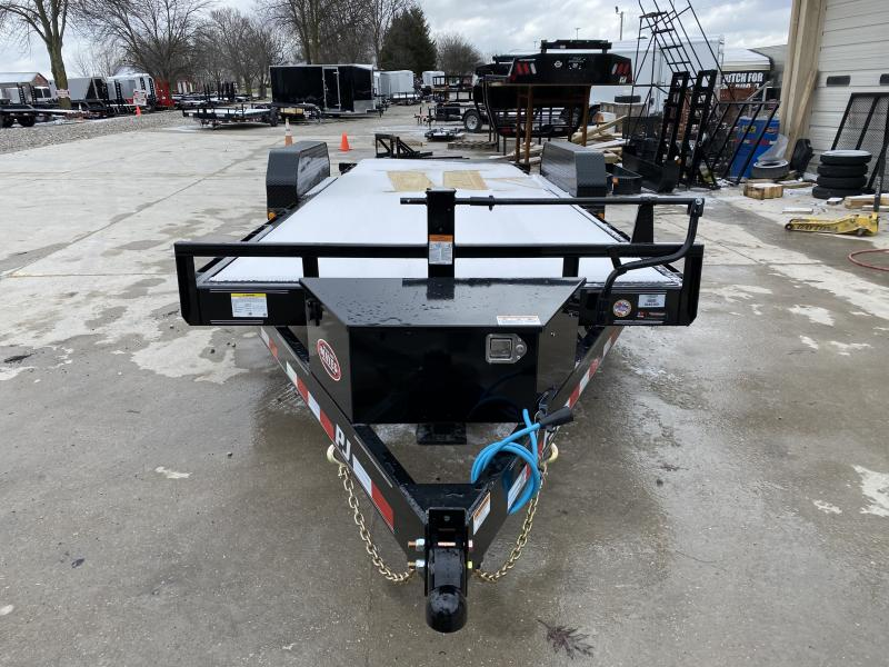 2020 20' Powered Full Deck Tilt PJ Trailers - Treated Wood Floor - Torsion Axles (GVW:  14000)