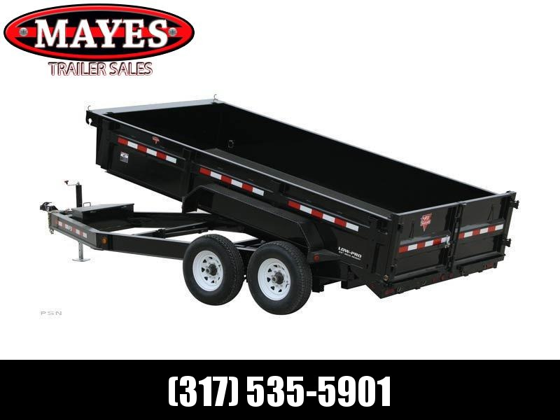 2021 83x16 PJ Trailers 83 in. Low Pro Dump (DL) Dump Trailer - (Tarp Kit)(GVW: 14000)