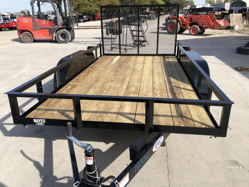 2020 76x12 TA AMO UT122 Utility Trailer - Treated Wood Floor - Tailgate - Electric Brakes (GVW:  7000)