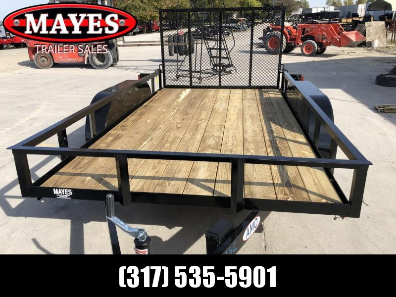 2020 76x12 TA AMO UT122 Utility Trailer - Treated Wood Floor - Tailgate - Electric Brakes (GVW:  7000)