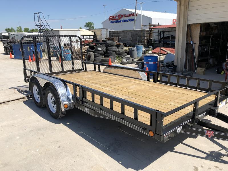 2020 83x16(14+2' Dovetail) PJ Trailers UL Utility Trailer - w/ 4' Fold-up Gate (GVW: 7000)(ATV Ramps)