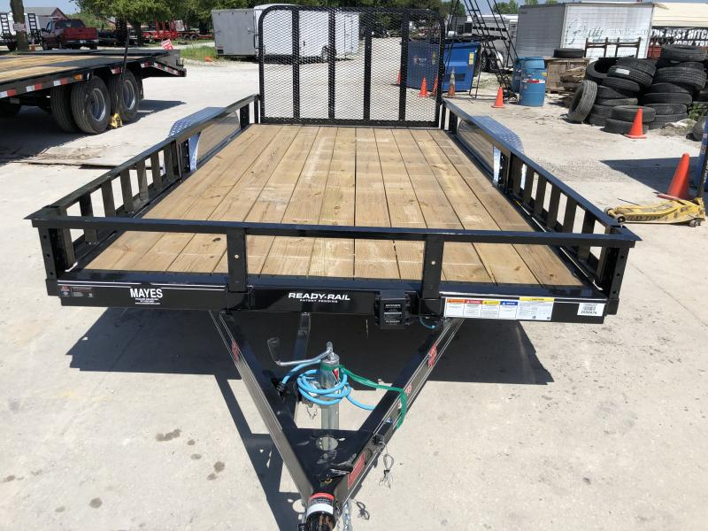 2020 83x16(14+2' Dovetail) PJ Trailers UL Utility Trailer - w/ 4' Fold-up Gate (GVW: 7000)(ATV Ramps)