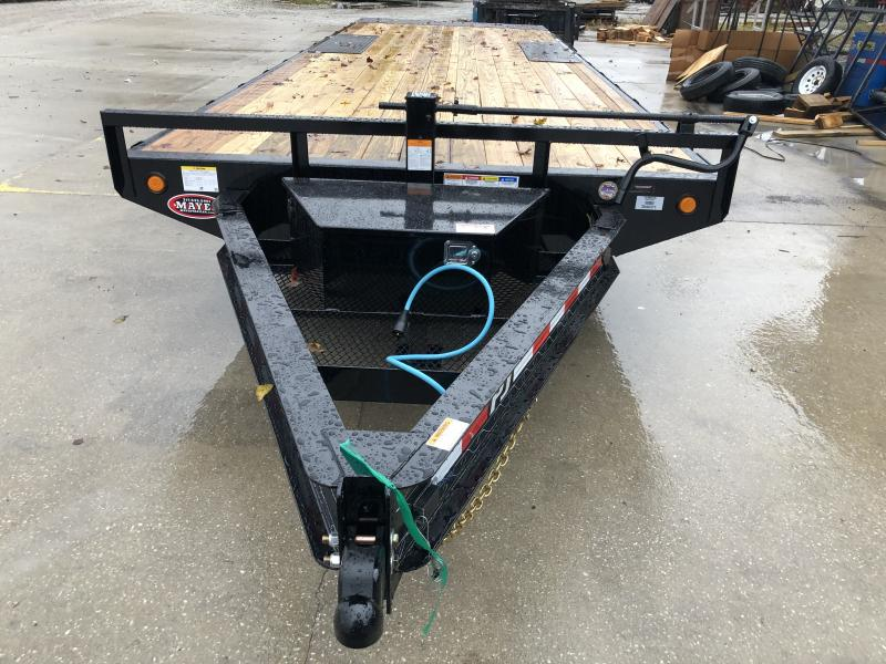 2020 96x24 (2+22) Deckover TiltPJ Trailers T8242 Equipment Trailer - 2 Foot Stationary + 24 Foot Tilt (GVW:  14000)