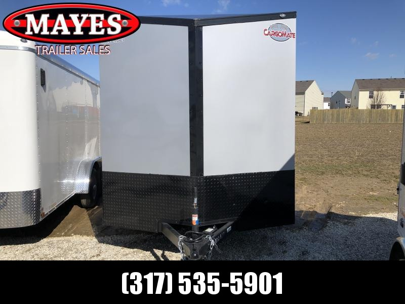 2020 7x14 TA Cargo Mate EHW714TA2 Enclosed Cargo Trailer - Ramp Door - Side by Side Package - Black Out Package - .030 Metal Upgrade - Screwless Metal Exterior (GVW:  7000)