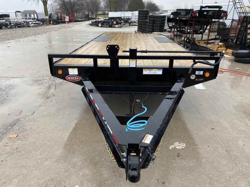 2020 102x20 TA PJ Trailers F8202 Equipment Trailer - 8 Inch I-Beam Deckover - Straight Deck - Slide In Ramps - 102 Inch Deck Width - Spare Tire MOUNT ONLY (GVW:  14000)