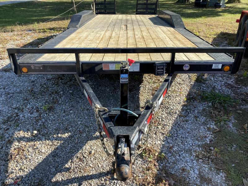 Used 2018 102x20 Foot PJ Trailers B5202 Car / Racing Trailer - 5 Inch Channel Buggy Hauler - 31x66 HD Fold-Up Ramps (GVW:  9899)