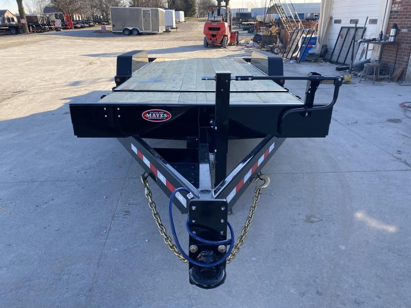 2020N 83x20 TA Tilt B-B TBCT2020ET-10K Equipment Trailer - 8x2 Tube Frame - D-Rings - Cushioned Cylinder (GVW:  20000)