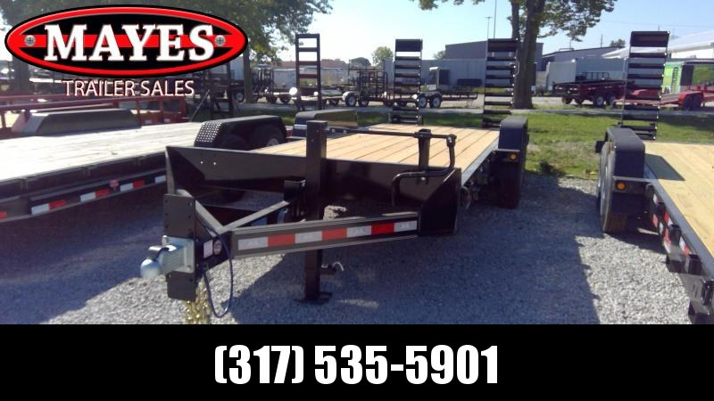 2020 83x20 Foot (18+2) TA B-B CBCT2020E-S10K Equipment Trailer - D-Rings - Fender Guides - Flip Up Ramps (GVW:  20000)