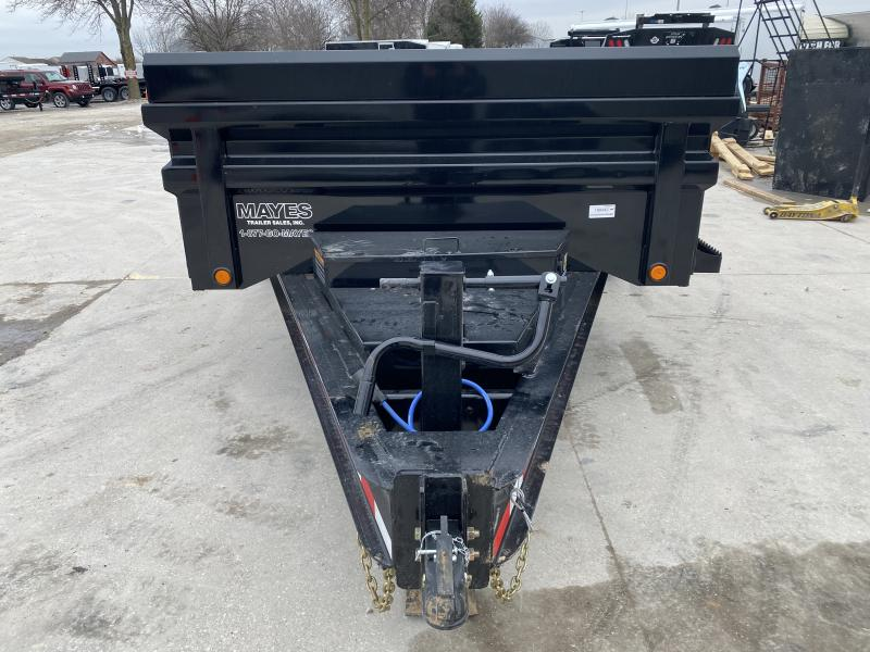 2020 83x14 TA Load Trail DH831072 Dump Trailer - 24 Inch Sides - 3-Way Gate - Tarp Kit - Scissor Hoist - 8 Inch I-Beam Frame (GVW:  14000)