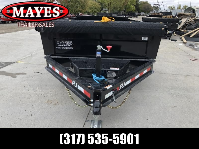 2020 83x14 TA Low Pro PJ Trailers DL142 Dump Trailer - Split/Spread Gate - Tarp Kit (GVW:  14000)