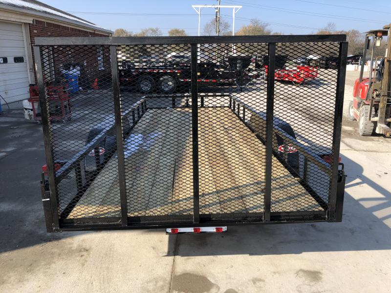 2020 76x18 TA AMO UT812 Utility Trailer - Straight Deck - Treated Wood Floor - Tailgate (GVW:  7000)