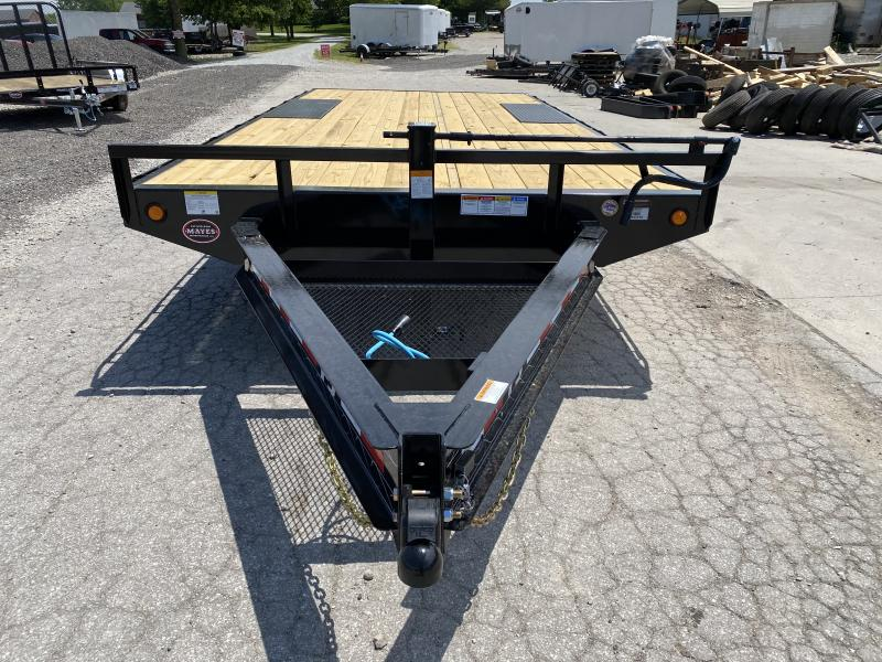 "2021 96x18 PJ Trailers 8"" I-Beam Deckover Trailer - Straight Deck w/ 6'6"" Slide-in Ramps (GVW: 14000)"