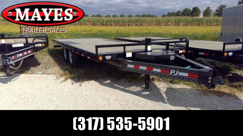 2020 96x22 Foot Tilt PJ Trailers T8222 Equipment Trailer - Full Deck Tilt - Deckover (GVW:  14000)
