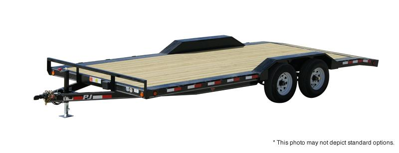 "2020 102""x20' (18+2) TA PJ Trailers 20'x5"" Channel Buggy Hauler Trailer -  Dovetail - 5' Rear Slide In Ramps (GVW:  9899)"