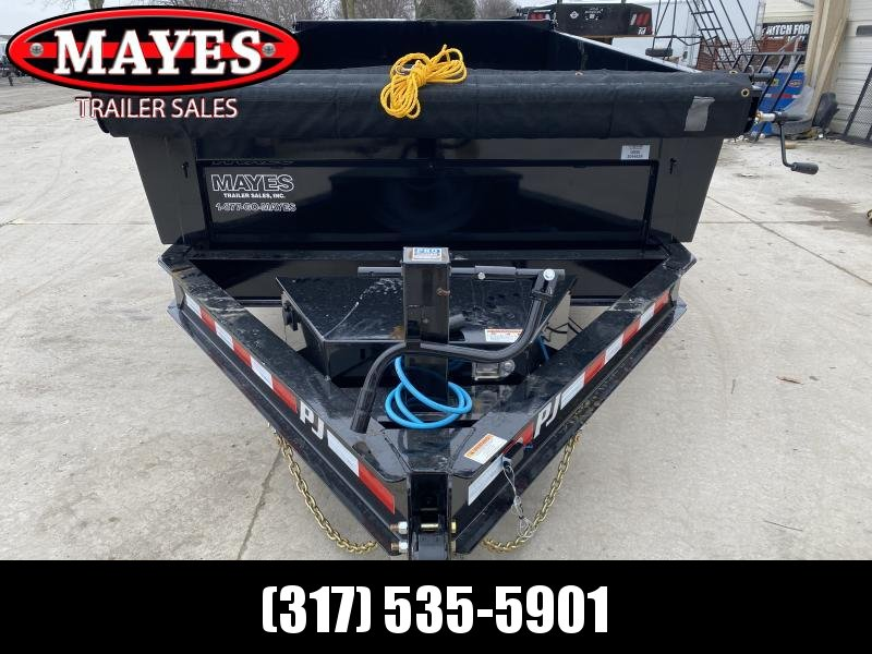 2020 83x12 TA Low Pro PJ Trailers DL122 Dump Trailer - Split/Spread Gate - 10K Jack Upgrade - Tarp Kit (GVW:  14000)