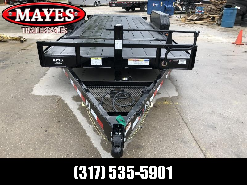 2019 83x20(4' Stationary + 16' Tilt) PJ Trailers T6202 Trailer - Blackwood Pro Full Deck (GVW: 14000)