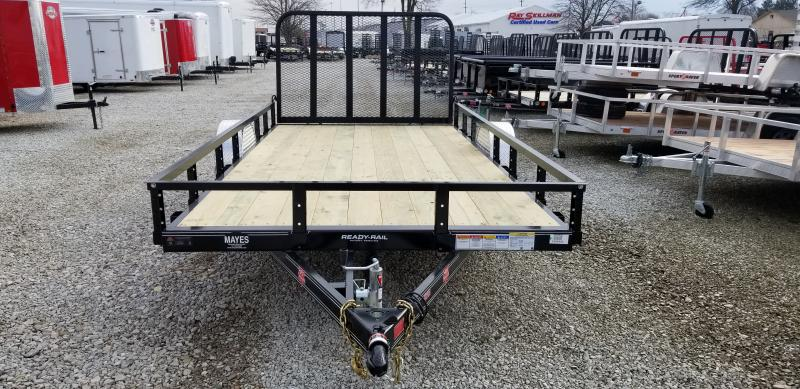 2019 83x14 PJ Trailers Single Axle Channel Utility Trailer - 4' Fold-up Gate (GVW: 2995) *5200# Axle*