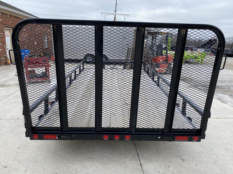 2020 83x14 PJ Trailers U8 Utility Trailer - Straight Deck w/ 4' Fold-up Gate (GVW: 2995)