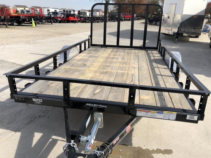 2020 83x12 SA PJ Trailers U8121 Utility Trailer - Straight Deck - 4' Tailgate (GVW:  2995)
