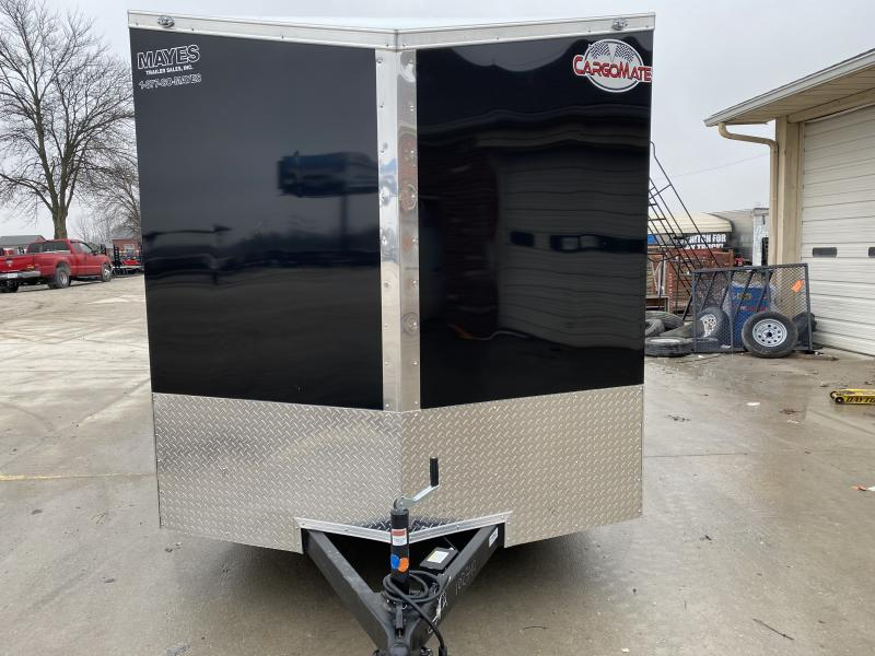 2020 7x14 TA Cargo Mate EHW714TA2 Enclosed Cargo Trailer - .030 Metal Upgrade - Side by Side Package - 6 Inch Additional Height - Ramp Door (GVW:  7000)