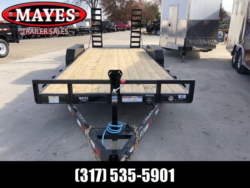 2020 83x20 (18+2) TA 5 Inch Channel CE202 PJ Equipment Trailer - Dovetail - Fold Up Ramps (GVW:  9899)