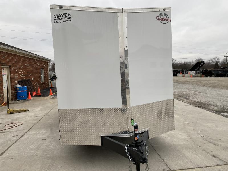 2020 7x16 TA Cargo Mate EHW716TA2 Enclosed Cargo Trailer - Ramp Door - Side by Side Pkg. - 6 Inch Additional Height (GVW:  7000)