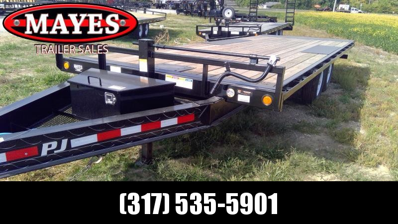 2020 102x22 Foot TA PJ Trailers T8222 Equipment Trailer - Deckover Tilt - Winch Plate (GVW:  14000)