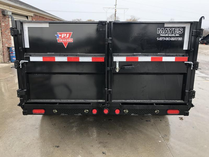 2020 83x14 TA Low Pro High Side PJ Trailers DM142 Dump Trailer - 3 Foot Tall Sides - Split/Spread Gate - Spare Tire MOUNT ONLY - Tarp Kit (GVW:  14000)