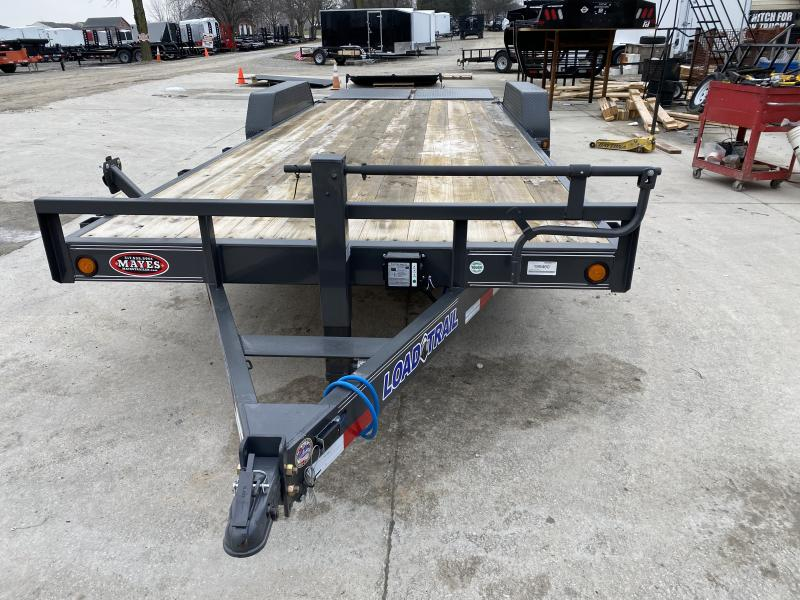 2020 83x22 (20+2) TA Load Trail CH8322072 Car / Racing Trailer - Max Ramps - D-Rings - Spare Tire MOUNT ONLY (GVW:  14000)