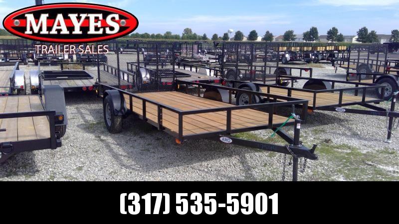 2020 76x14 SA American Manufacturing Operations (AMO) US141 Utility Trailer - Tailgate (GVW:  2990)