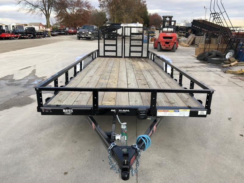 2020 83x20 (18+2) TA PJ Trailers UL202 Utility Trailer - Dovetail - Split HD Gate (GVW:  7000)