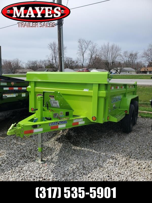 2020 72x12 Load Trail DT12 Dump Trailer - (Ramps)(Tarp Kit)(Split/Spreader Gate)(GVW: 9990) *Safety Green*