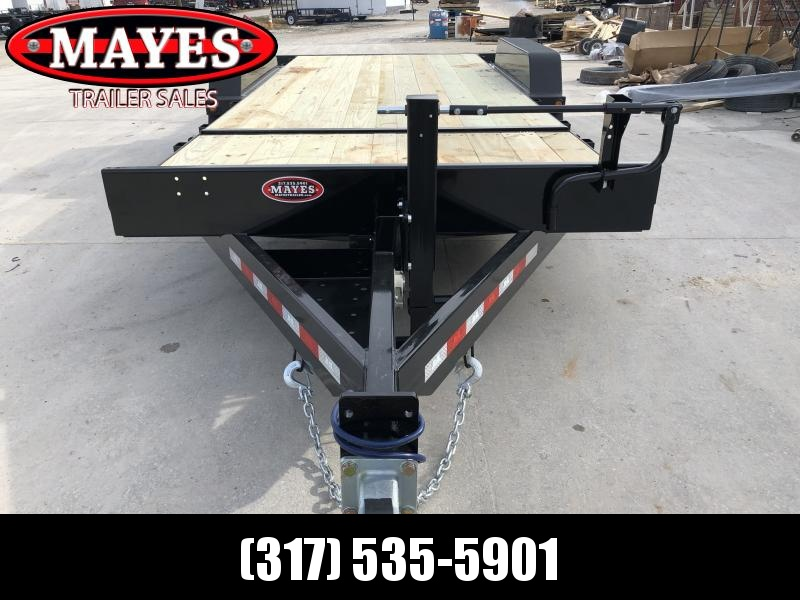 2020 83x20 (4+16) TA B-B TBC2016ET Equipment Tilt Trailer - Cushioned Cylinder - Pallet Fork Holders - Chain Tray (GVW:  16000)