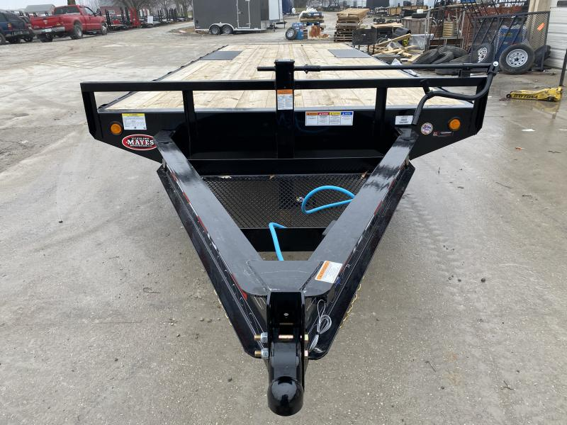 2020 96x22 TA Deckover PJ Trailers F8222 Equipment Trailer - Slide In Ramps - Straight Deck (GVW:  14000)