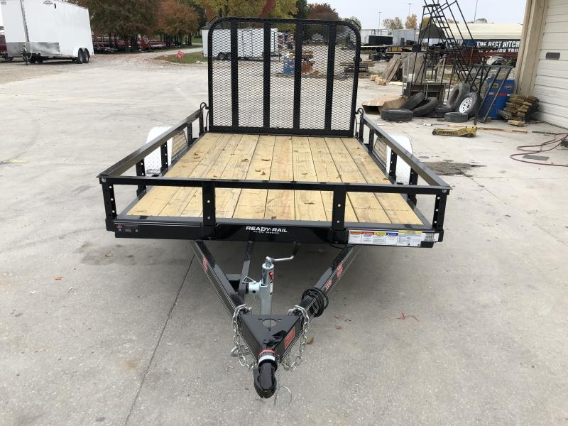 2020 72x10 SA PJ Trailers U2101 Utility Trailer - Straight Deck - Fold In Gate (GVW:  2995)
