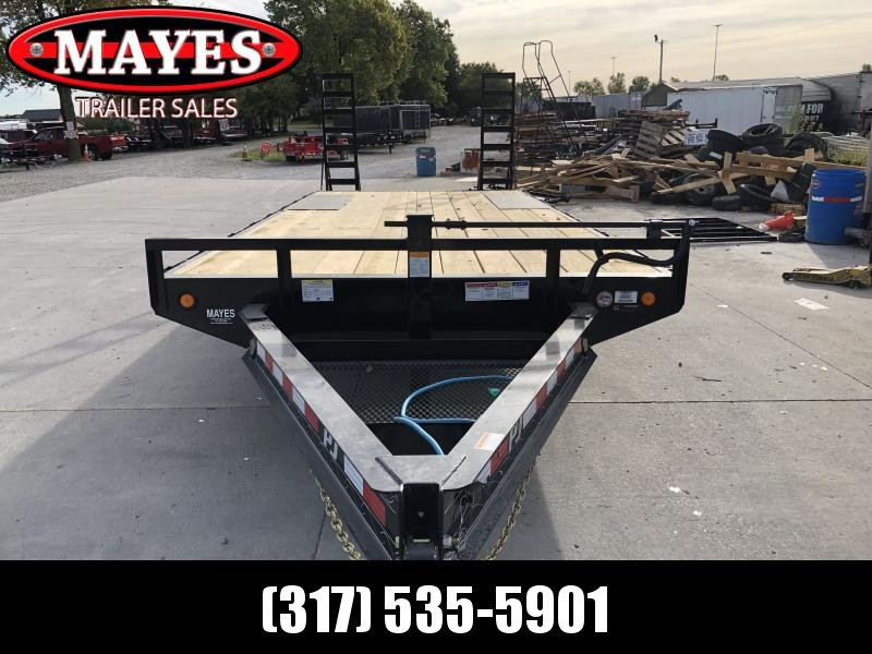 2020 96x20 (17+3) TA Deckover PJ Trailers F8202 Equipment Trailer - Dovetail - Fold Up Ramps (GVW:  14000)