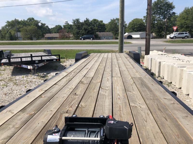 2020 83x32 (28+4) TA PJ Trailers C8322 Equipment Trailer - Slide In Ramps - Oil Bath Axles (GVW:  16000)